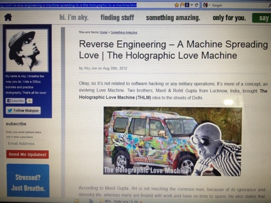 Reverse Engineering - A machine spreading love