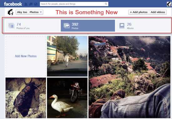 New Facebook Photo Panel