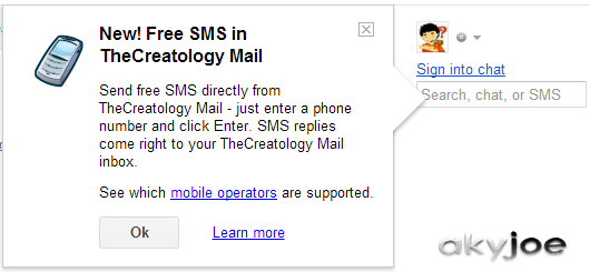 how to send sms from mail to mobile