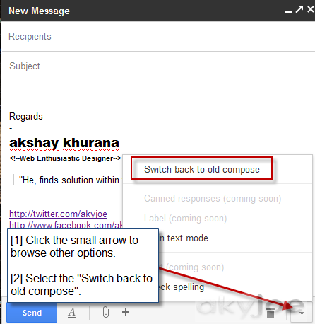 Switch back to old compose button