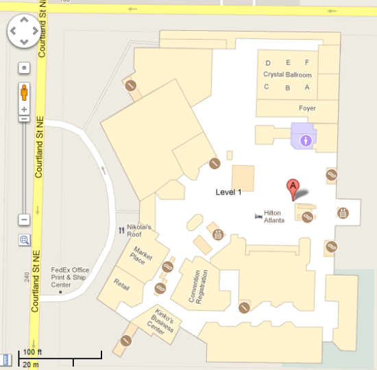 Hilton Atlanta-Google Indoor Map