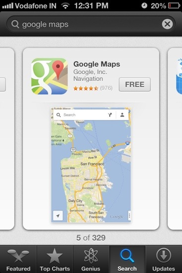 Google Maps for IOS 6.x