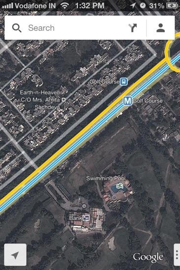 Satellite View showing Public Transit