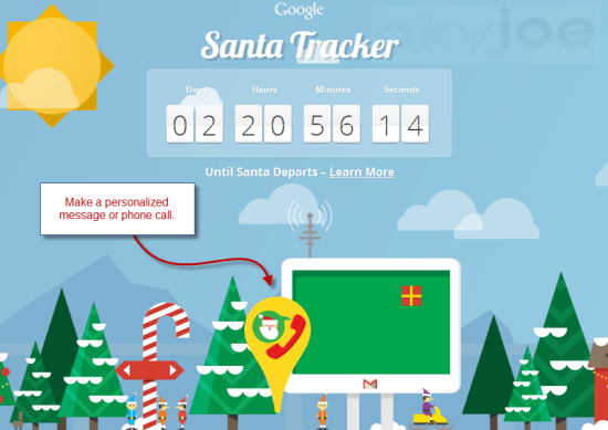 Google Santa Claus Tracker