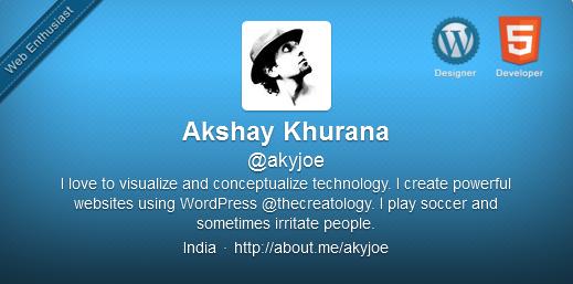 New Twitter Profile Header Design