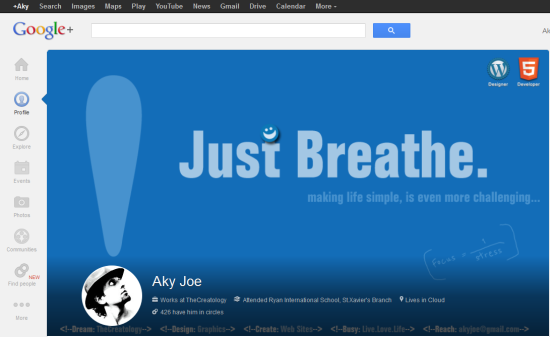 New Google Cover Image layout