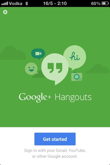 Google Hangouts for IOS users