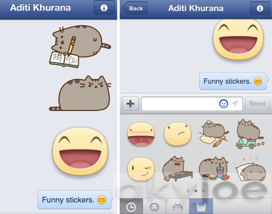 Facebook Messenger Chat Stickers