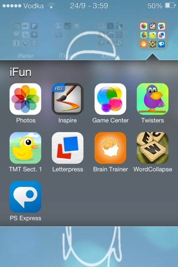 IOS 7 Theme Folder Open