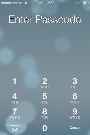 IOS 7 Startup Screen
