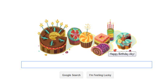 Google Birthday Doodle for People