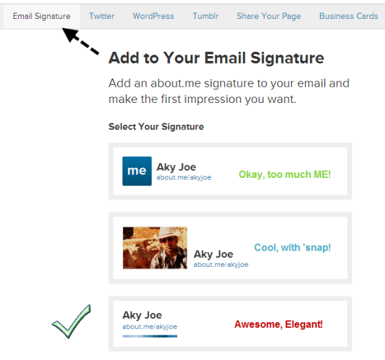 Email Signature Quotes: Three Email Signatures For Gmail By About.Me To Loyal