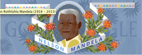 NelsonMandela Birthday Doodle
